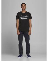 Jack & Jones - T-shirt (set Van 3 ) Wit/donkerblauw/zwart - Lyst