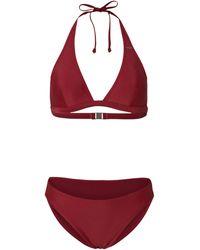 O'neill Sportswear Halter Bikini Maria Cruz Donkerrood