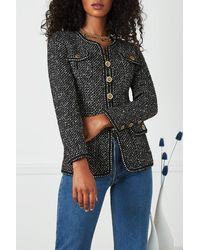 Chanel F/w 1993 Black & White Tweed Blazer
