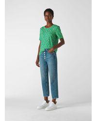 Whistles Ditsy Blossom Rosa Tshirt - Green