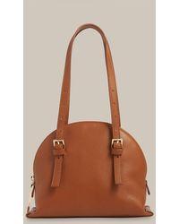 Whistles Hadley Buckle Detail Bag - Brown