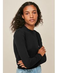 Whistles - Cropped Rib Essential Top - Lyst