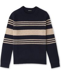 Whistles - Textured Striped Jumper - Lyst