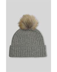 Whistles - Knitted Pom Hat - Lyst