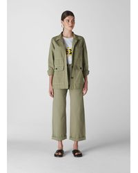 Whistles Utility Casual Jacket - Green
