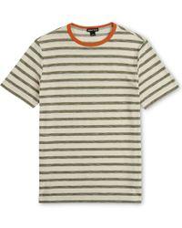 Whistles - Herringbone Stripe T-shirt - Lyst