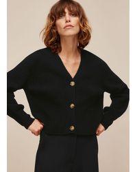 Whistles Full Sleeve Knitted Cardigan - Black