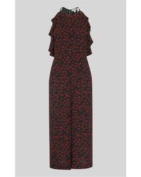 Whistles - Sonia Lips Print Jumpsuit - Lyst