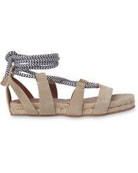 65befbc10537 Whistles Mimosa Rope Flatform Sandals in Black - Lyst