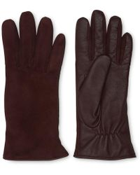Whistles - Suede Front Leather Glove - Lyst