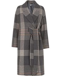 Whistles - Check Magdelina Belted Coat - Lyst