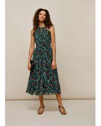Whistles Forest Floral Halter Dress - Blue