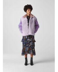 Whistles Colourblock Toscana Coat - Purple