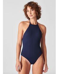 Whistles Pippa Minimal Swimsuit - Blue