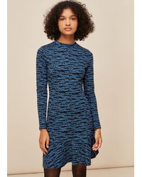 Whistles - Tiger Leopard Flippy Dress - Lyst