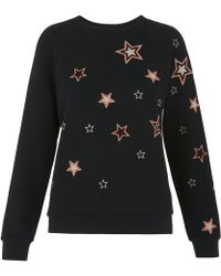 Whistles - Scatter Star Embroidered Sweat - Lyst