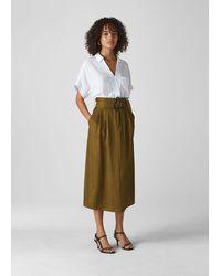 Whistles Rosita Buckle Skirt - Multicolor