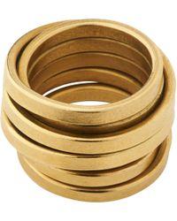 Whistles Made Birds Nest Ring - Metallic