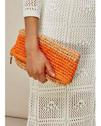 Whistles Chapel Foldover Paper Clutch - Orange