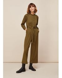 Whistles - Tie Front Jumpsuit - Lyst