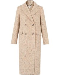 Whistles - Textured Double Breasted Coat - Lyst