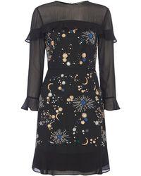 Whistles - Nancy Embellished Galaxy Dress - Lyst