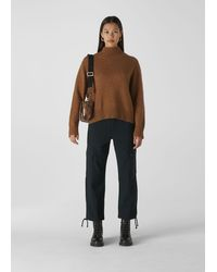 Whistles Funnel Neck Yak Mix Knit - Green