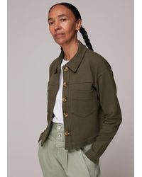 Whistles Utility Jersey Jacket - Green