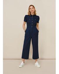 Whistles Emma Pocket Detail Jumpsuit - Blue