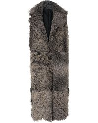 Whistles - Ula Shearling Longline Gilet - Lyst