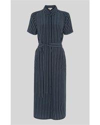 Whistles - Montana Stripe Shirt Dress - Lyst