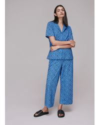 Whistles Brushmark Animal Print Pyjamas - Blue
