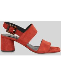 Whistles Avery Buckle Sandals - Red