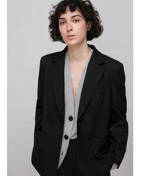 Whistles Twill Tailored Blazer - Black
