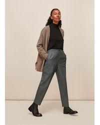 Whistles Anita Easy Check Trouser - Multicolor