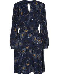 Whistles Ebony Galaxy Flippy Dress - Azul