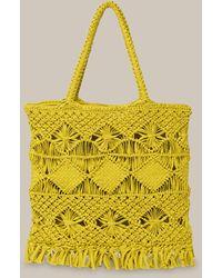 Whistles Clea Crochet Tote - Yellow
