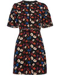 Whistles - Estrella Pansy Print Dress - Lyst