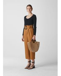 Whistles Amelie Paper Bag Trouser - Brown