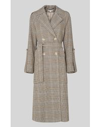 Whistles Check Trench Coat - Multicolor
