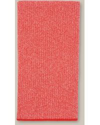 Whistles Tipped Merino Wool Scarf - Red