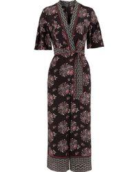 Whistles Jaipur Print Silk Jumpsuit - Marrón