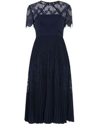 Whistles - Bianca Lace Pleated Dress - Lyst