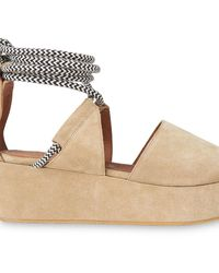 Whistles Molino Rope Suede Wedge Sandal - Multicolour