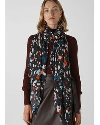 Whistles Lily And Lionel Animal Scarf - Black