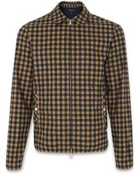 Whistles - Checked Harrington Jacket - Lyst