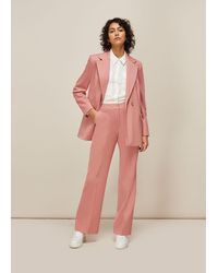 Whistles Sana Single Breasted Blazer - Pink