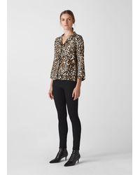 Whistles Animal Print Pyjama Shirt - Black