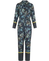 Whistles - Lyle Silk Pyjama Jumpsuit - Lyst