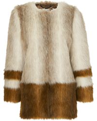 Whistles - Duvall Faux Fur Coat - Lyst